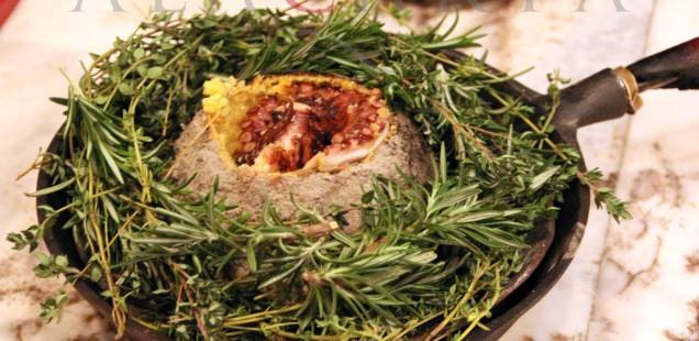 2019-02 Restaurant Maize Octopus Polenta Ball