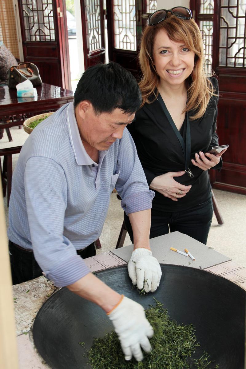 Chinese green tea wok