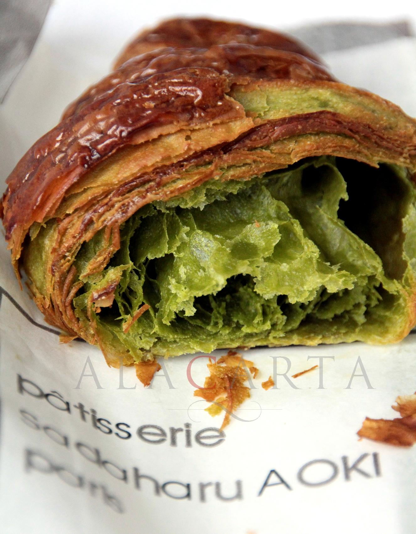 Croissant Matcha Aoki inside