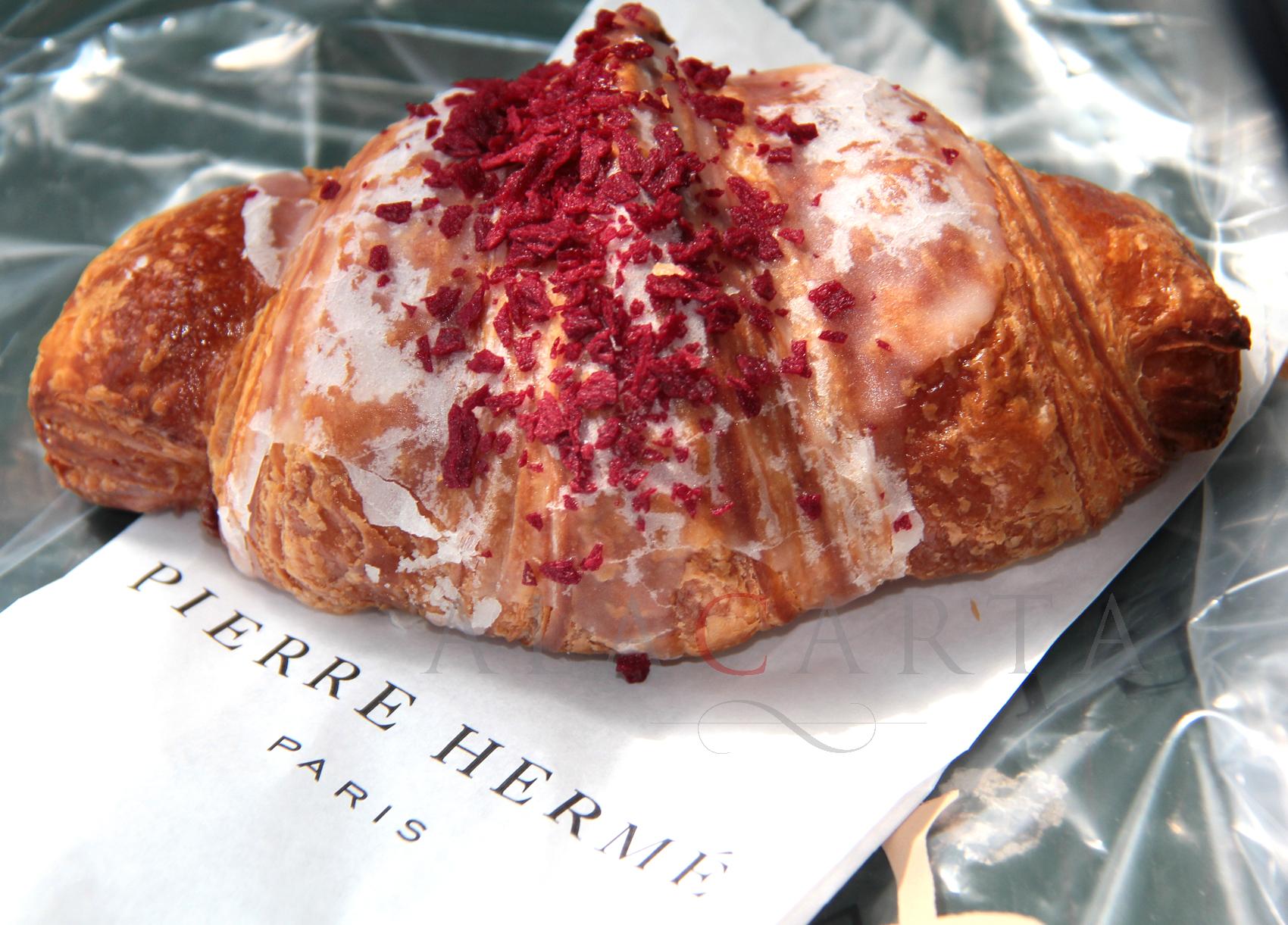 Croissant Pierre Herme Ispahan