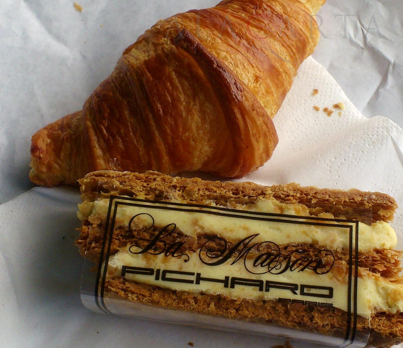 Croissant et Millefeuille Pichard
