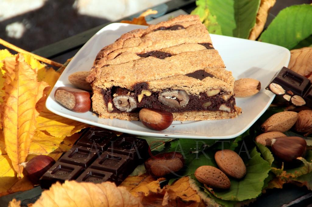 Crostata castagne cioccolato