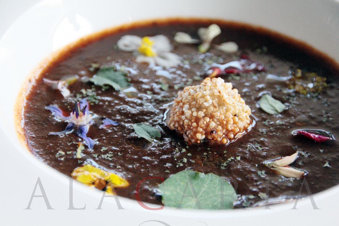 Evoka restaurante Sopa de jitomate