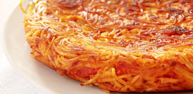 Frittata de spaghetti, la doble vida de las sobras