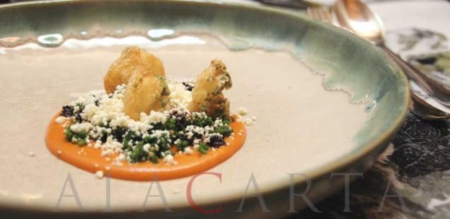 Huauzontles con queso cuadro de Chiapas