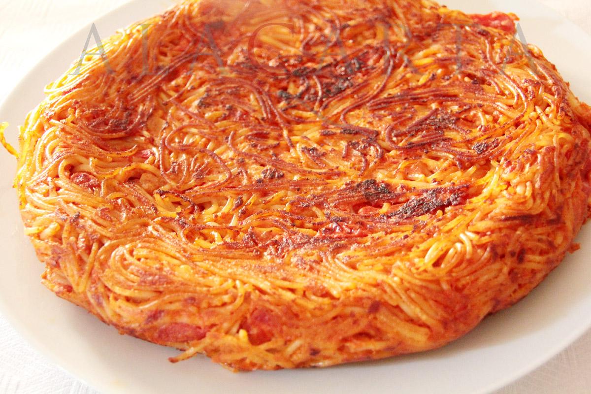 Receta tortilla de Spaghetti