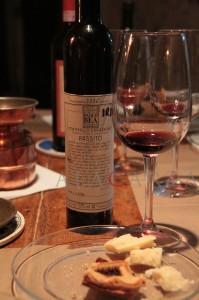 Sagrantino Passito con Parmigiano