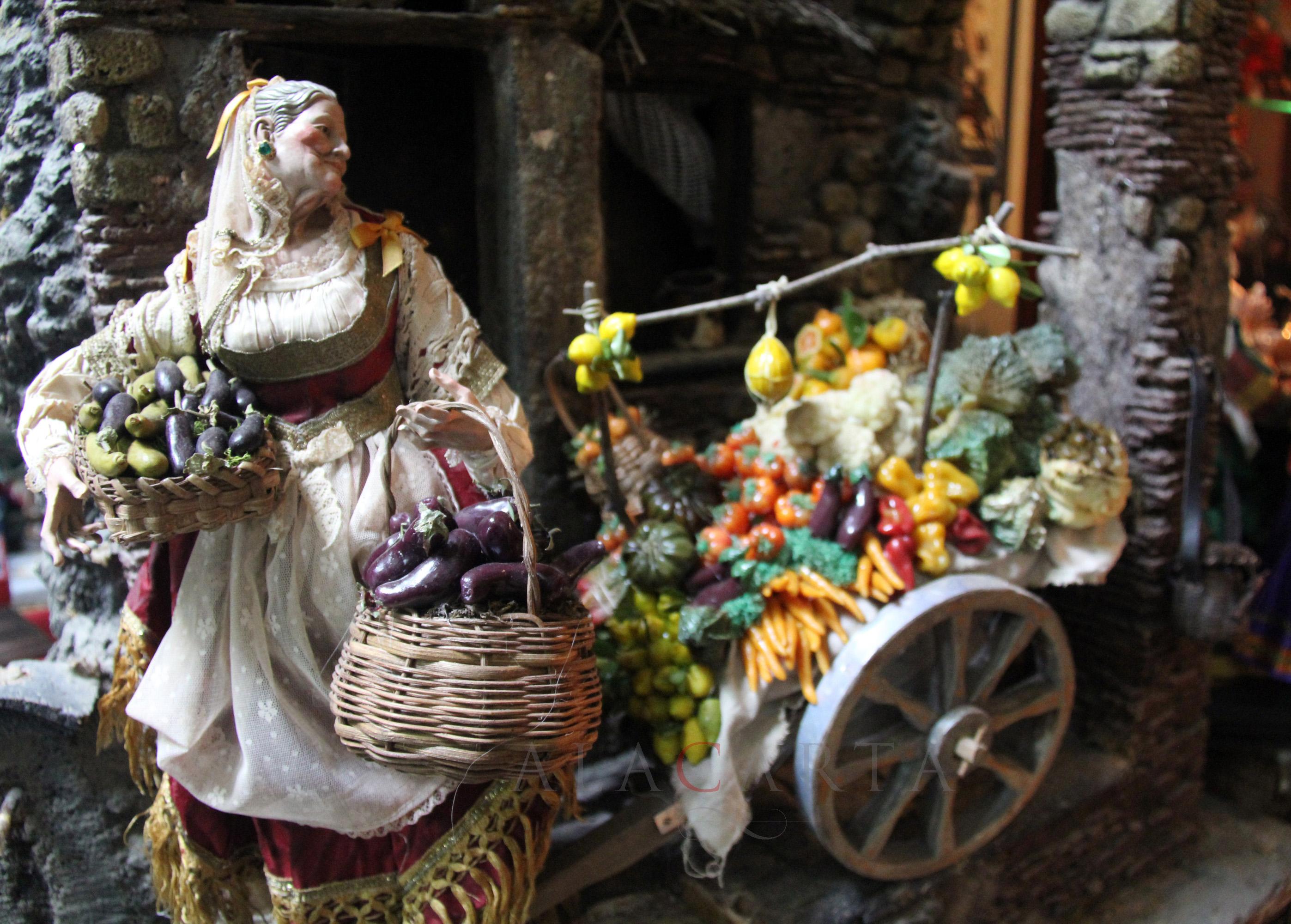 Venditrice di verdura presepe